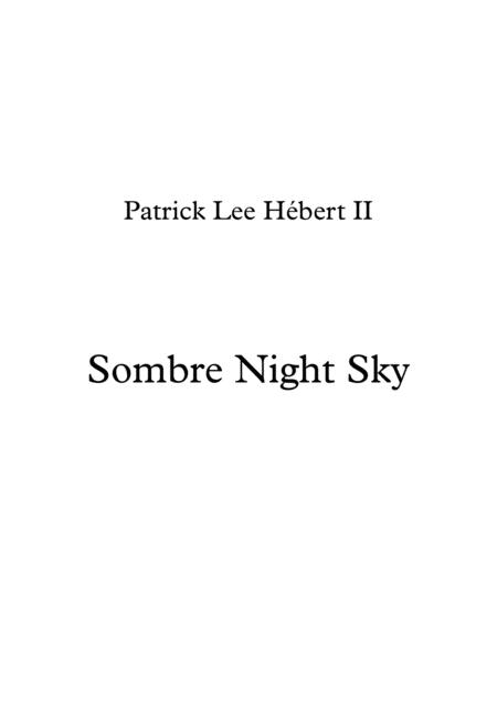 Sombre Night Sky