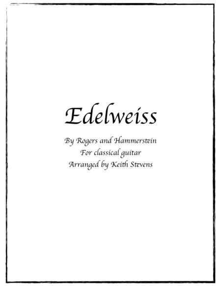 Edelweiss for classical guitar