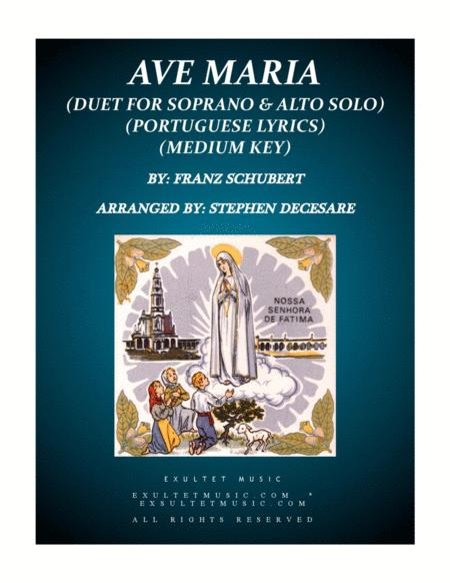 Ave Maria (Portuguese Lyrics - Duet for Soprano and Alto Solo - Medium Key)