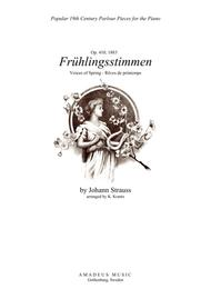 Fruhlingsstimmen / Voices of Spring for piano solo (C Major)