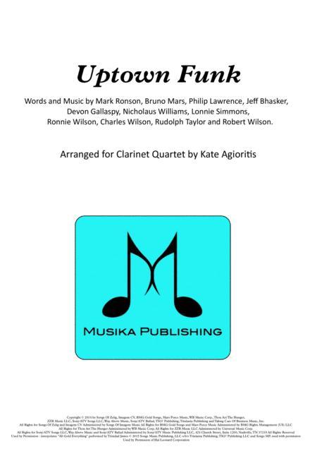 Uptown Funk - for Clarinet Quartet