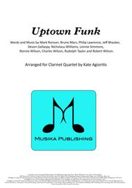 Uptown Funk - for Clarinet Quartet
