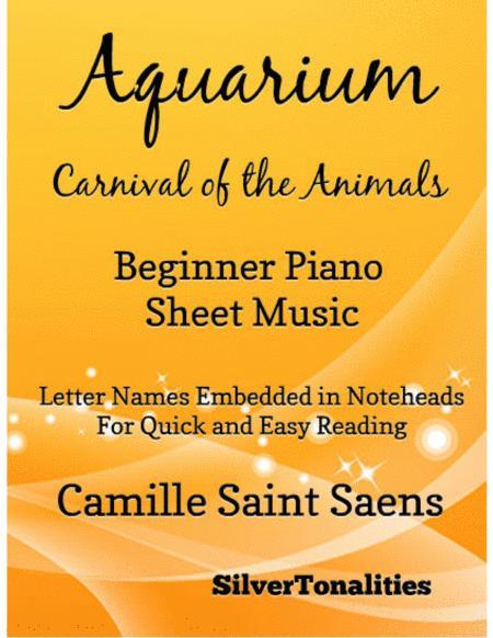 Aquarium Carnival of the Animals Beginner Piano Sheet Music
