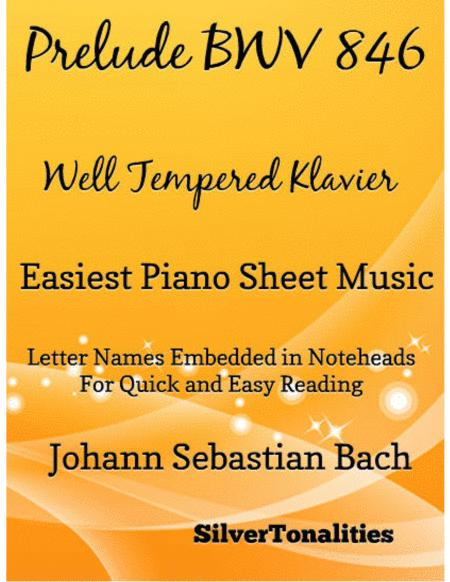 Prelude 1 Bwv 846 West Tempered Klavier Easiest Piano Sheet Music