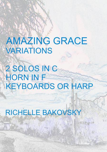Variations on Amazing Grace for Oboe, Horn in F, and Harp