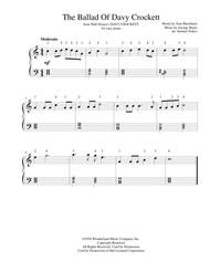 The Ballad Of Davy Crockett  from Walt Disney's DAVY CROCKETT - for easy piano