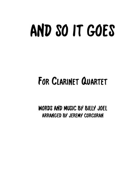 And So It Goes for Clarinet Quartet