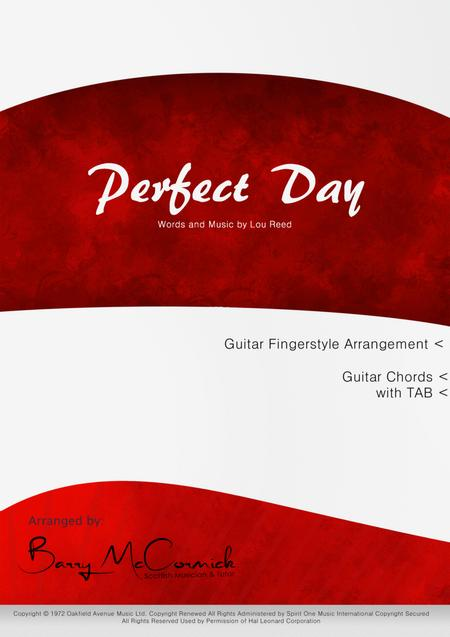 Download Perfect Dayguitar Arrangement Sheet Music By Lou Reed