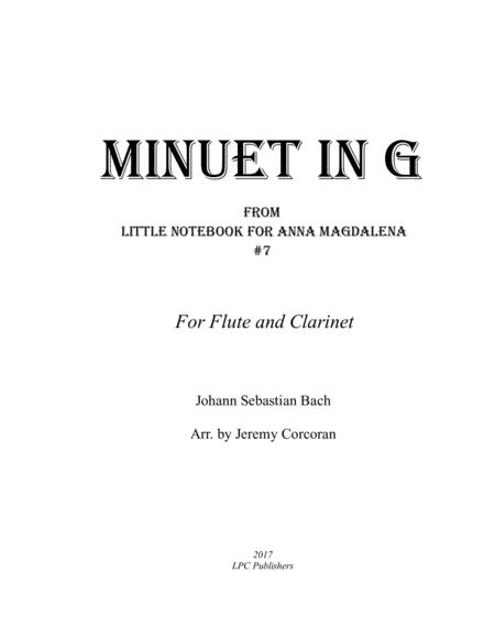 Minuet in G for Flute and Clarinet