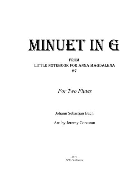 Minuet in G for Two Flutes