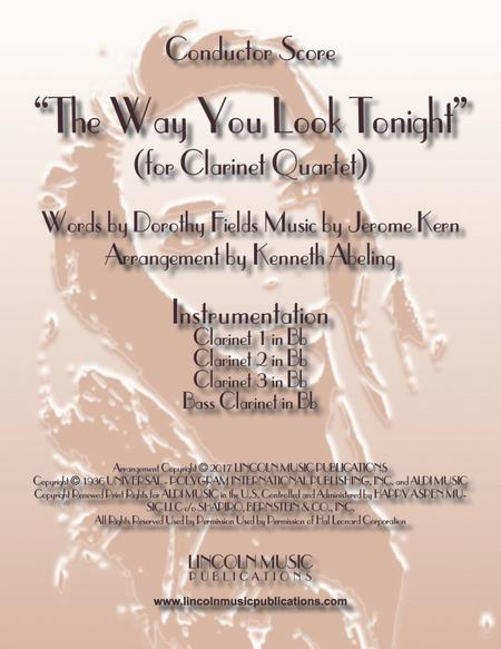 The Way You Look Tonight (for Clarinet Quartet)