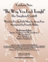 The Way You Look Tonight (for Saxophone Quartet SATB or AATB)
