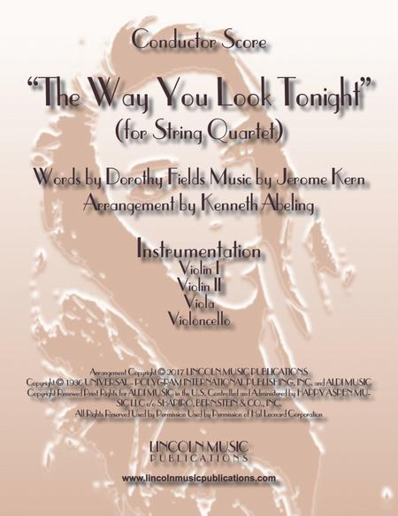 The Way You Look Tonight (for String Quartet)