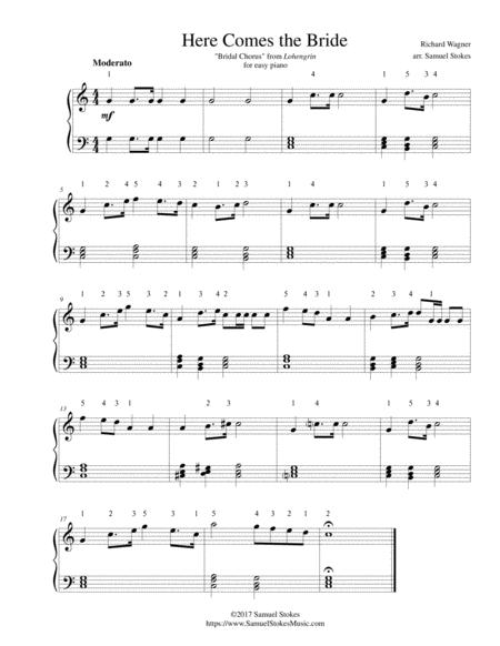 Download Here Comes The Bride For Easy Piano Sheet Music By