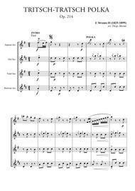 Tritsch-Tratsch Polka for Saxophone Quartet