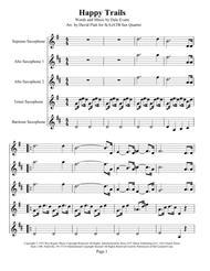 Happy Trails for S(A)ATB ax Quartet