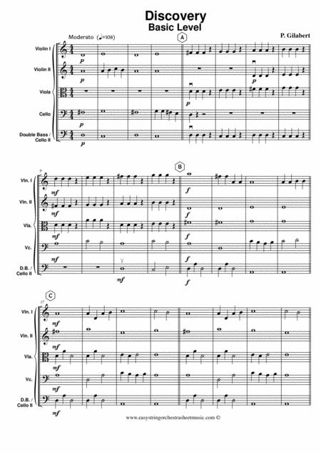 Discovery for easy string orchestra