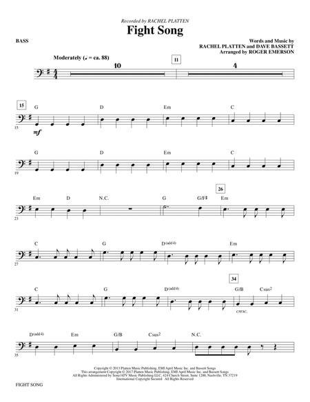 Fight Song - Bass