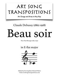 Beau soir (E-flat major)