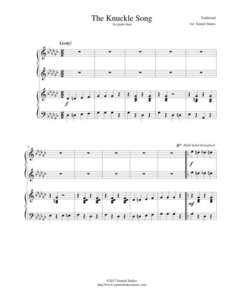 Download The Knuckle Song - For Piano Duet Sheet Music By