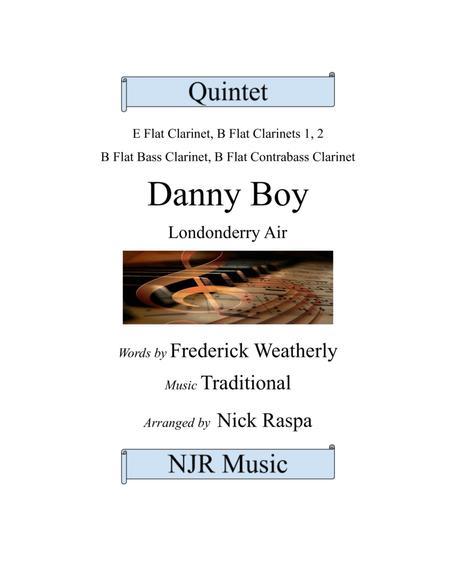 Danny Boy (Clarinet Quintet) Eb Bb(2) Bass & C-bass (Full Set)