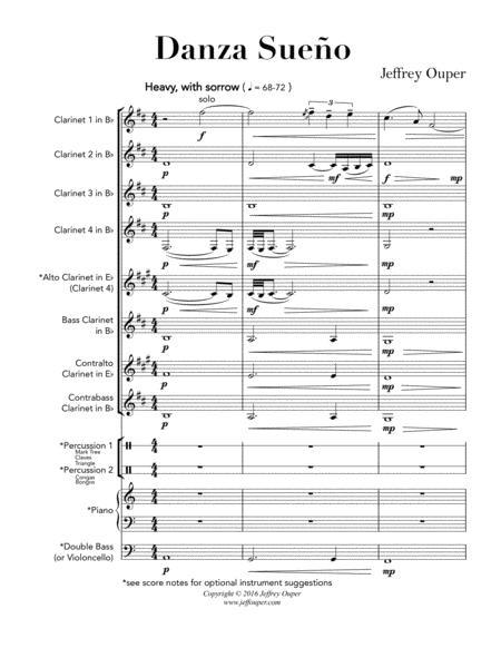 Danza Sueno (Clarinet Choir)