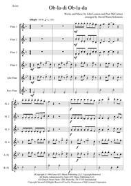 Ob-La-Di, Ob-La-Da for flute sextet or flute choir