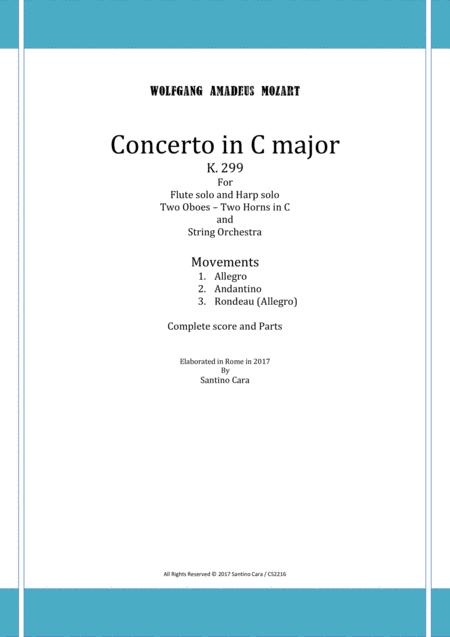 Mozart - Concerto in C for Flute, Harp and Orchestra K.299 - Score and Parts
