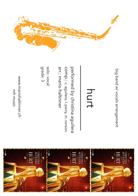 Hurt - Christina Aguilera - Jazz Ensemble w/ vocals - score & parts