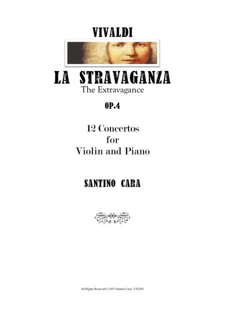Vivaldi - La Stravaganza Op.4 - 12 Concertos for Violin and Piano