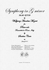 Mozart - Complete Symphony in G minor No.40 K.550 for Piano solo