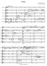Ballade Op. 288 for flute and orchestra, arranged for flute quintet or flute choir