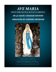 Ave Maria (Duet for Flute and Bb-Clarinet)