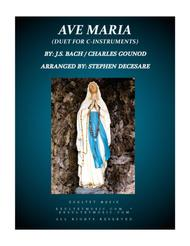 Ave Maria (Duet for C-Instruments)
