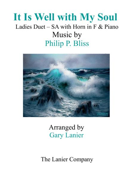 IT IS WELL WITH MY SOUL(Ladies Duet - SA with Horn in F & Piano)