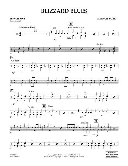Blizzard Blues - Percussion 1