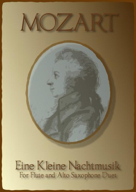 Eine Kleine Nachtmusik, Allegro, by W A Mozart. Duet for one Flute and one Alto Saxophone