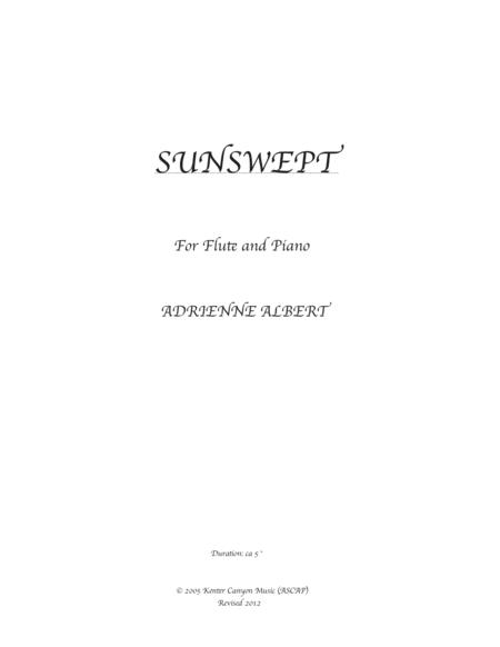 SUNSWEPT for flute and piano