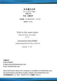 Trail to the water place Op.163 Duet for Flute and Guitar