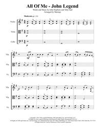 All Of Me - John Legend (arranged for String Trio)