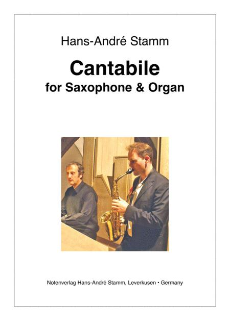 Cantabile for Saxophone and Organ