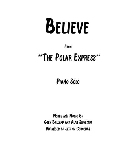 Believe for Solo Piano