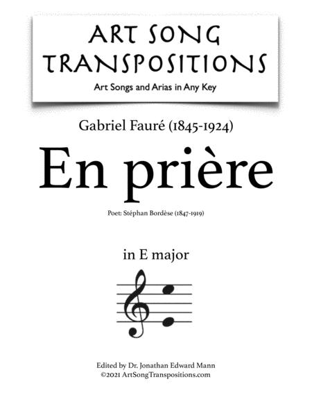 En prière (E major)