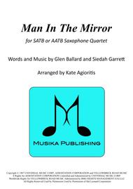 Man In The Mirror - for Saxophone Quartet