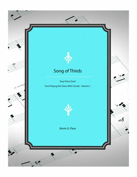 Song of 3rds - easy piano duet