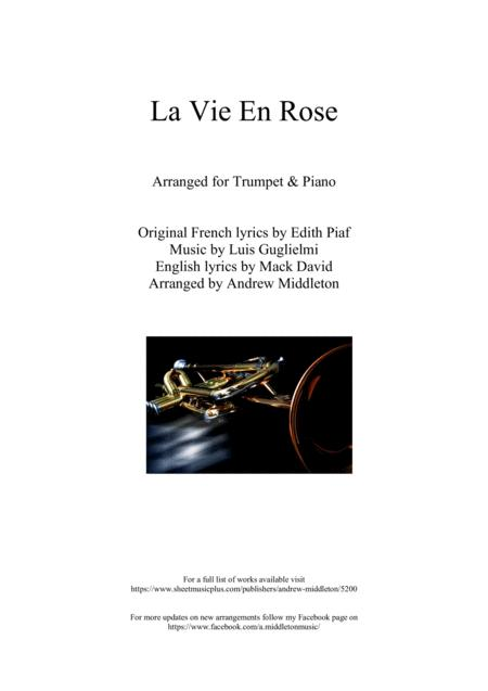 La Vie En Rose for Trumpet and Piano