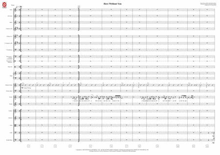 Here Without You (Orchestra, Band + Voice - Score only)