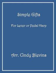 Simple Gifts, arranged for Lever or Pedal Harp
