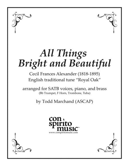 All Things Bright and Beautiful - SATB, piano, brass