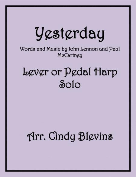 Yesterday, Solo for Lever or Pedal Harp